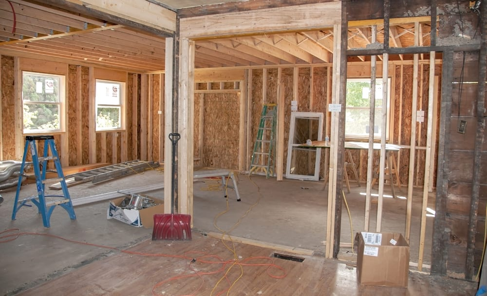 House Interior While Being Remodeled